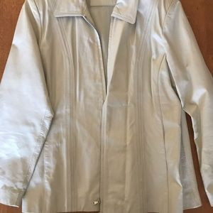 Women's off white Leather Size Xl Worthington cost
